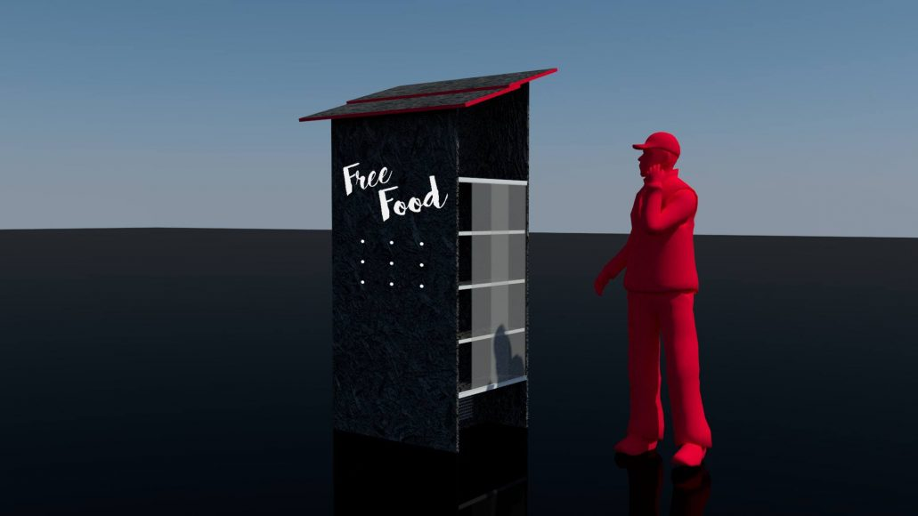 Návrh verejnej chladničky od Free Food. FOTO - Free Food