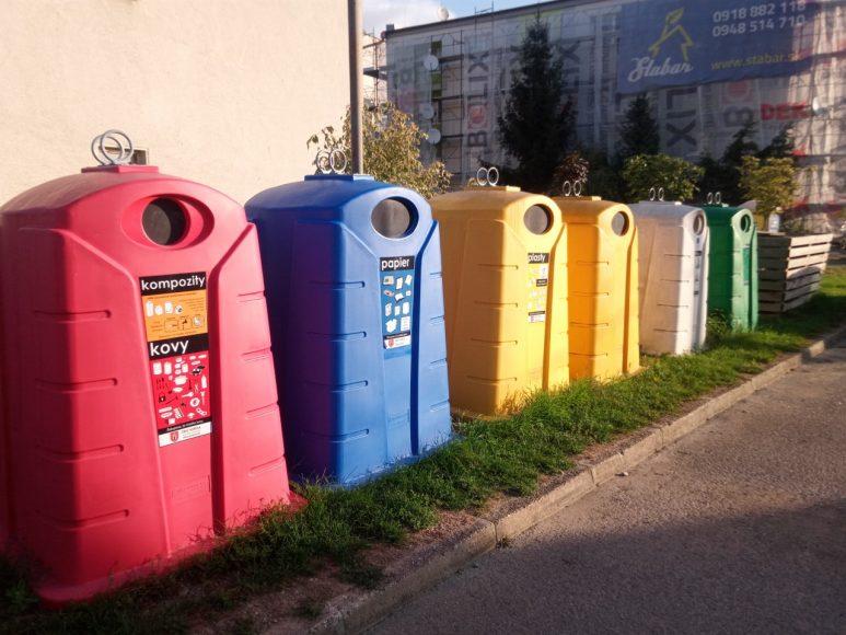 odpad nádoby triedenie
