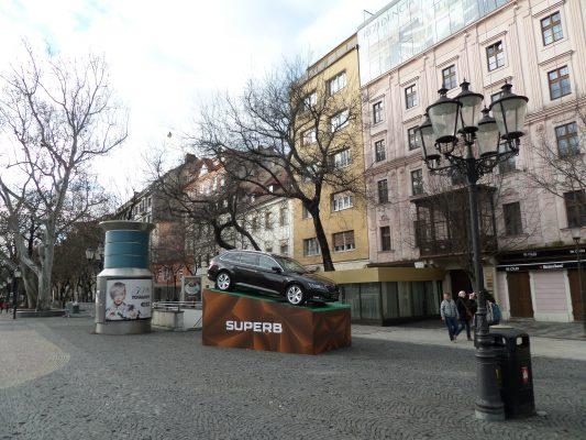 Hviezdoslavovo námestie a jeho nová dominanta. FOTO - autorka