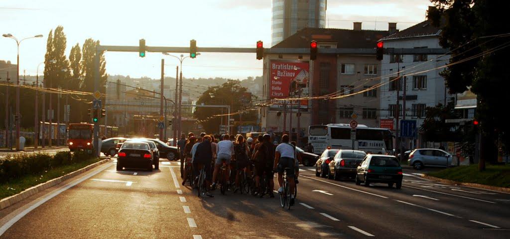 Critical Mass v Bratislave. FOTO - Autorka