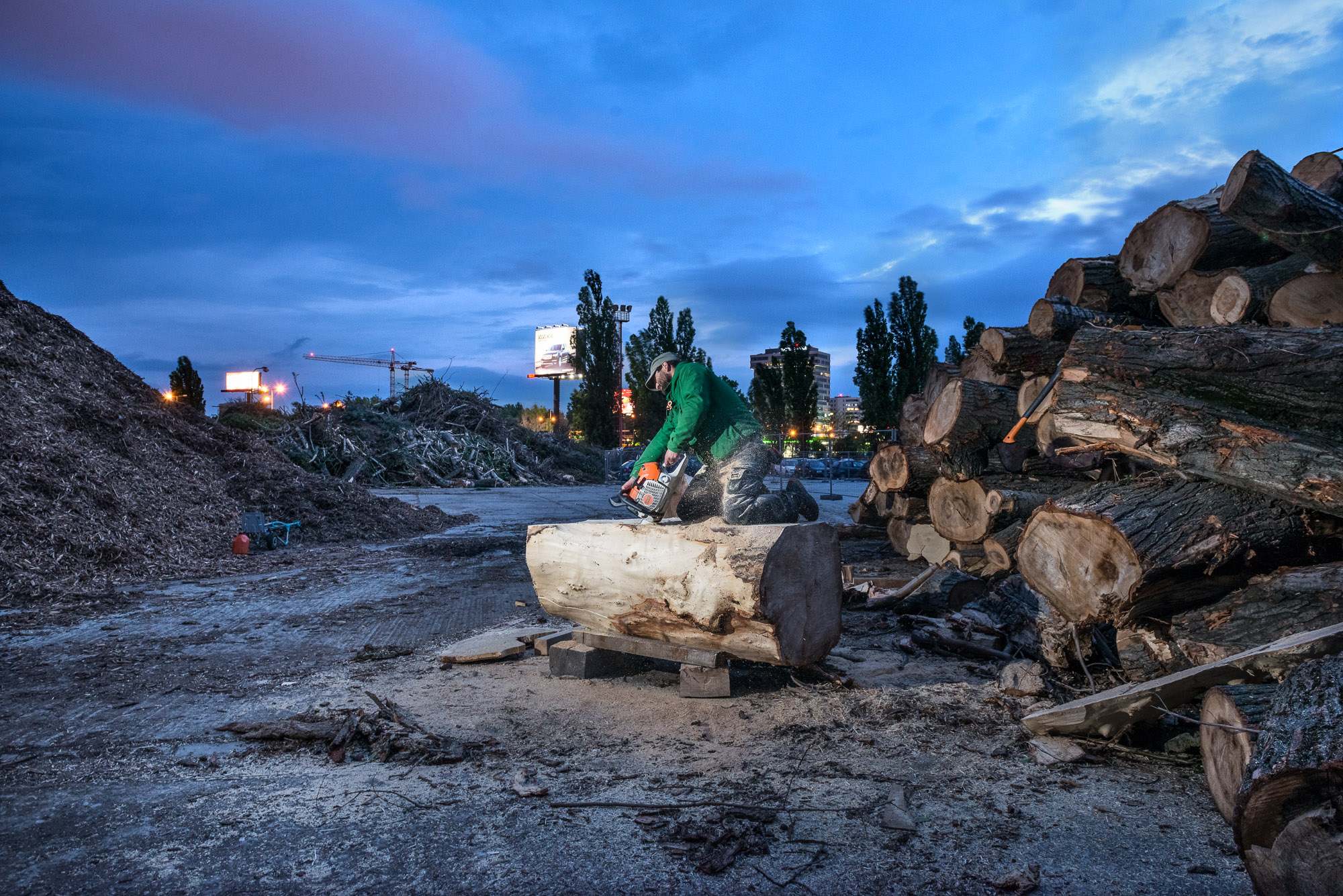 Nábytok vyrába zo stromov, ktoré vyrúbali na uliciach Bratislavy. Chce ich tak zachovať ako súčasť miesta, kde rástli